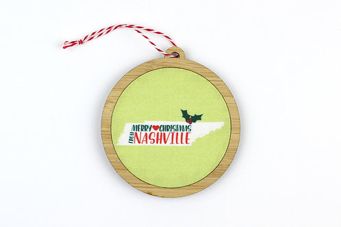 MERRY CHRISTMAS FROM NASHVILLE | ORNAMENT