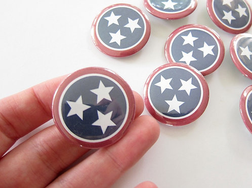 TENNESSEE FLAG | SET OF 10 BUTTONS | WHOLESALE