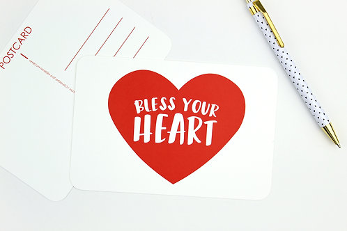BLESS YOUR HEART | SET OF 5 OR 10 POSTCARDS