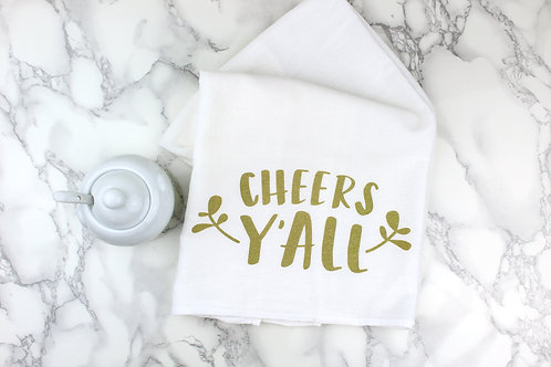CHEERS Y'ALL | KITCHEN TOWEL