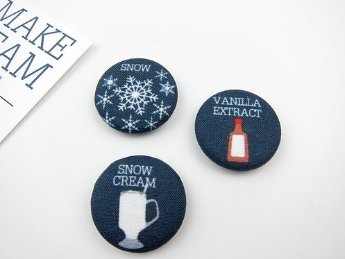HOW TO MAKE SNOW CREAM | SET OF 5 MAGNETS | WHOLESALE
