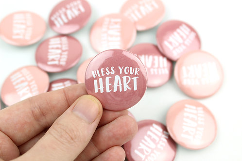 BLESS YOUR HEART | SET OF 10 BUTTONS | WHOLESALE