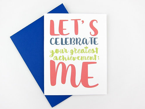 LET'S CELEBRATE ME | CARD | WHOLESALE