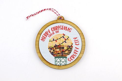 MERRY CHRISTMAS FROM THE SCRUFFY CITY | ORNAMENT | WHOLESALE
