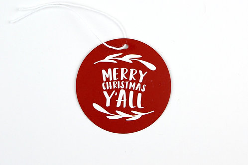 MERRY CHRISTMAS Y'ALL | SET OF 10 GIFT TAGS | WHOLESALE