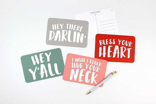 SOUTHERN SAYINGS | SET OF 3 OR MORE POSTCARDS