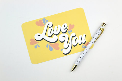 LOVE YOU | POSTCARDS | WHOLESALE