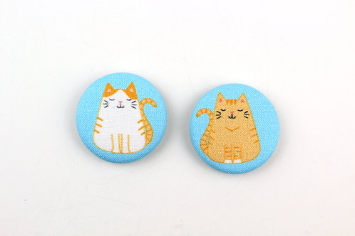FAT CAT | SET OF 2 MAGNETS | READY TO SHIP