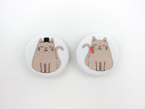 MR. AND MRS. CAT | SET OF 2 MAGNETS