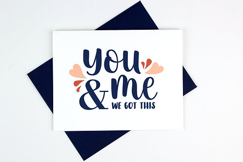 YOU AND ME | CARD | WHOLESALE