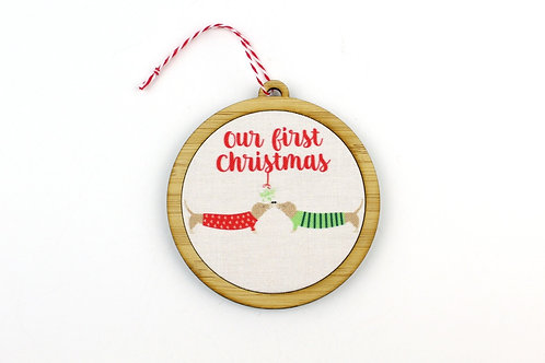 OUR FIRST CHRISTMAS (DOGS) | ORNAMENT