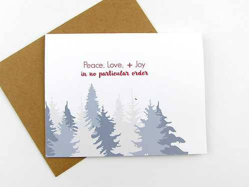 PEACE LOVE + JOY | CARD | WHOLESALE