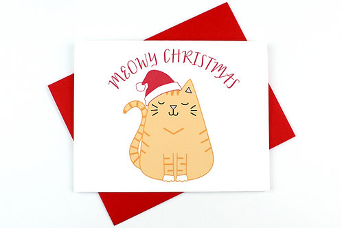 MEOWY CHRISTMAS | CARD