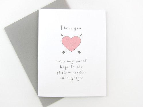 CROSS MY HEART | CARD | WHOLESALE