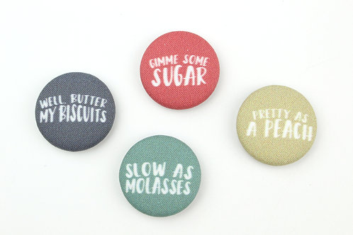 NEW SOUTHERN SAYINGS GIMME SOME SUGAR | SET OF 4 MAGNETS | WHOLESALE