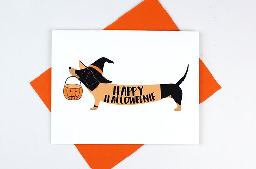 HAPPY HALLOWEENIE | CARD | WHOLESALE