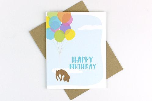 BIRTHDAY BALLOONS DOG | CARD | WHOLESALE
