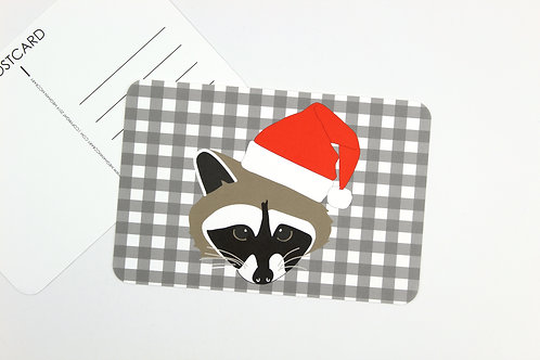 RACCOON SANTA | POSTCARDS | WHOLESALE