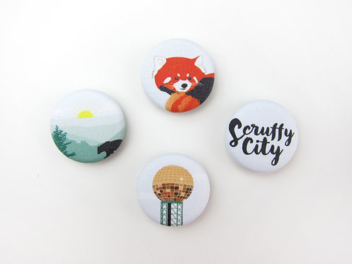 SCRUFFY CITY | SET OF 4 MAGNETS | WHOLESALE