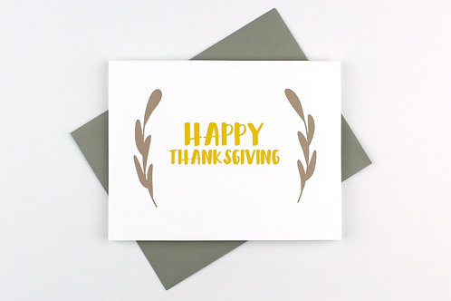 HAPPY THANKSGIVING | CARD
