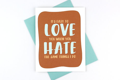 EASY TO LOVE YOU | CARD