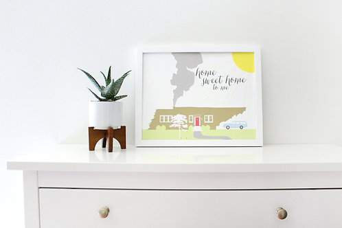 HOME SWEET HOME TENNESSEE | PRINT