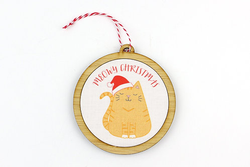 MEOWY CHRISTMAS | ORNAMENT | READY TO SHIP