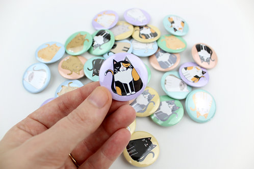 FAT CAT | SET OF 10 BUTTONS | WHOLESALE
