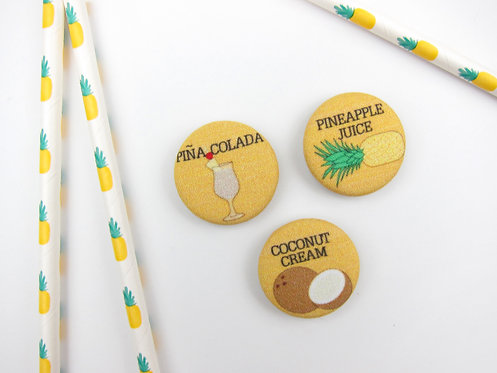 HOW TO MAKE A PINA COLADA | SET OF 5 MAGNETS | WHOLESALE