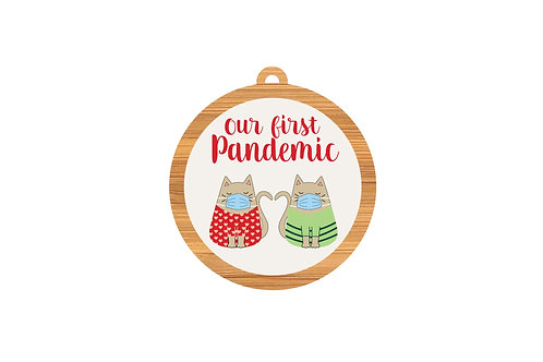 OUR FIRST PANDEMIC (CAT)    ORNAMENT   WHOLESALE