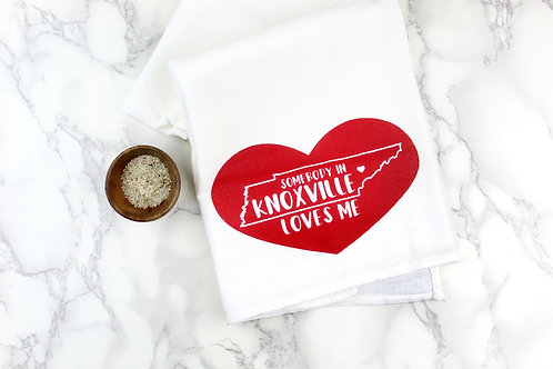 SOMEBODY IN KNOXVILLE OR NASHVILLE LOVES ME | KITCHEN TOWEL