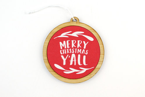 MERRY CHRISTMAS Y'ALL | ORNAMENT