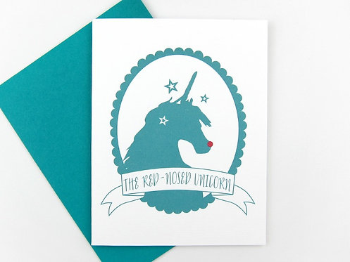 RED NOSED UNICORN | CARD | WHOLESALE