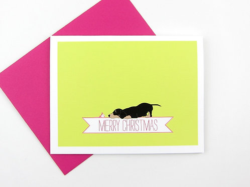 DACHSHUND WITH A BELL | CARD | WHOLESALE