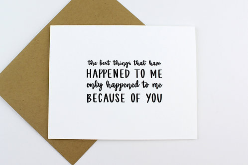 THE BEST THINGS THAT HAVE HAPPENED TO ME | CARD