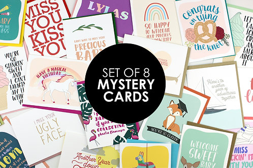 8 MYSTERY CARDS | SAVE OVER 50%