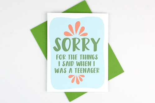 SORRY FOR THE THINGS I SAID | CARD