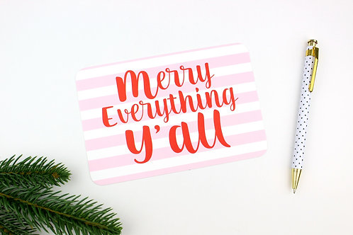 MERRY EVERYTHING Y'ALL | SET OF 3 OR MORE POSTCARDS