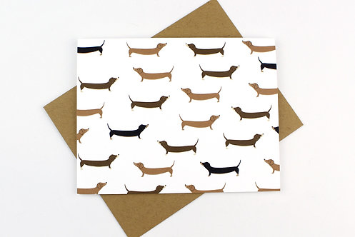 NAKED DACHSHUND PATTERN | CARD