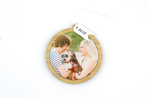 CUSTOM PHOTOGRAPH ORNAMENT | READY IN 2 WEEKS