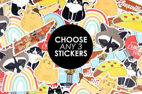 CHOOSE ANY 3 STICKERS