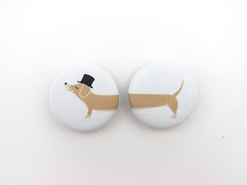DACHSHUND WITH A MUSTACHE | SET OF 2 MAGNETS | WHOLESALE