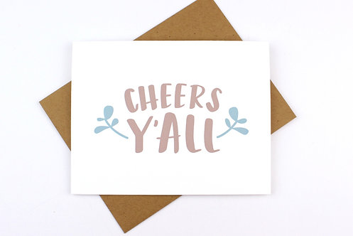 CHEERS Y'ALL | CARD | WHOLESALE
