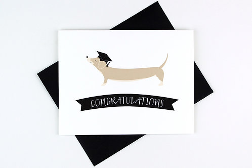 DACHSHUND GRADUATION | CARD | WHOLESALE