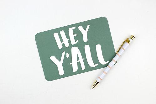 HEY Y'ALL | POSTCARDS | WHOLESALE