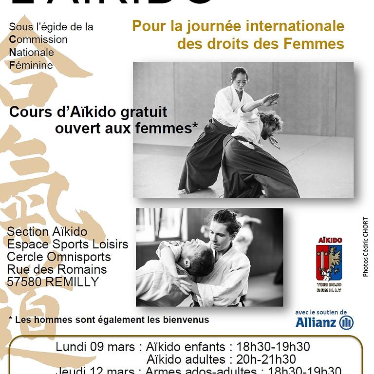 Aikido pour la journée internationale des droits des Femmes
