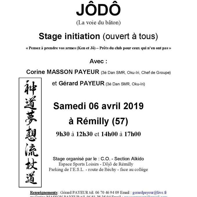 Jôdô Stage d'initiation