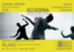 volantino 2 audizioni ACCADEMIA 2020 -gr