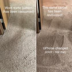Revitalize Carpet Traffic pattern