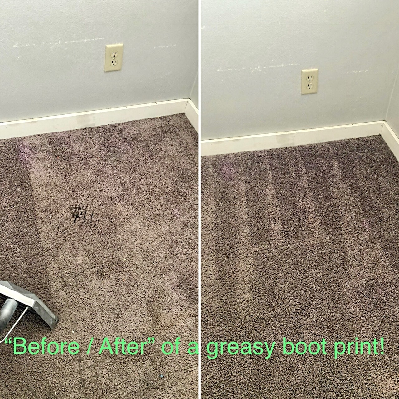 before and after dirty carpet